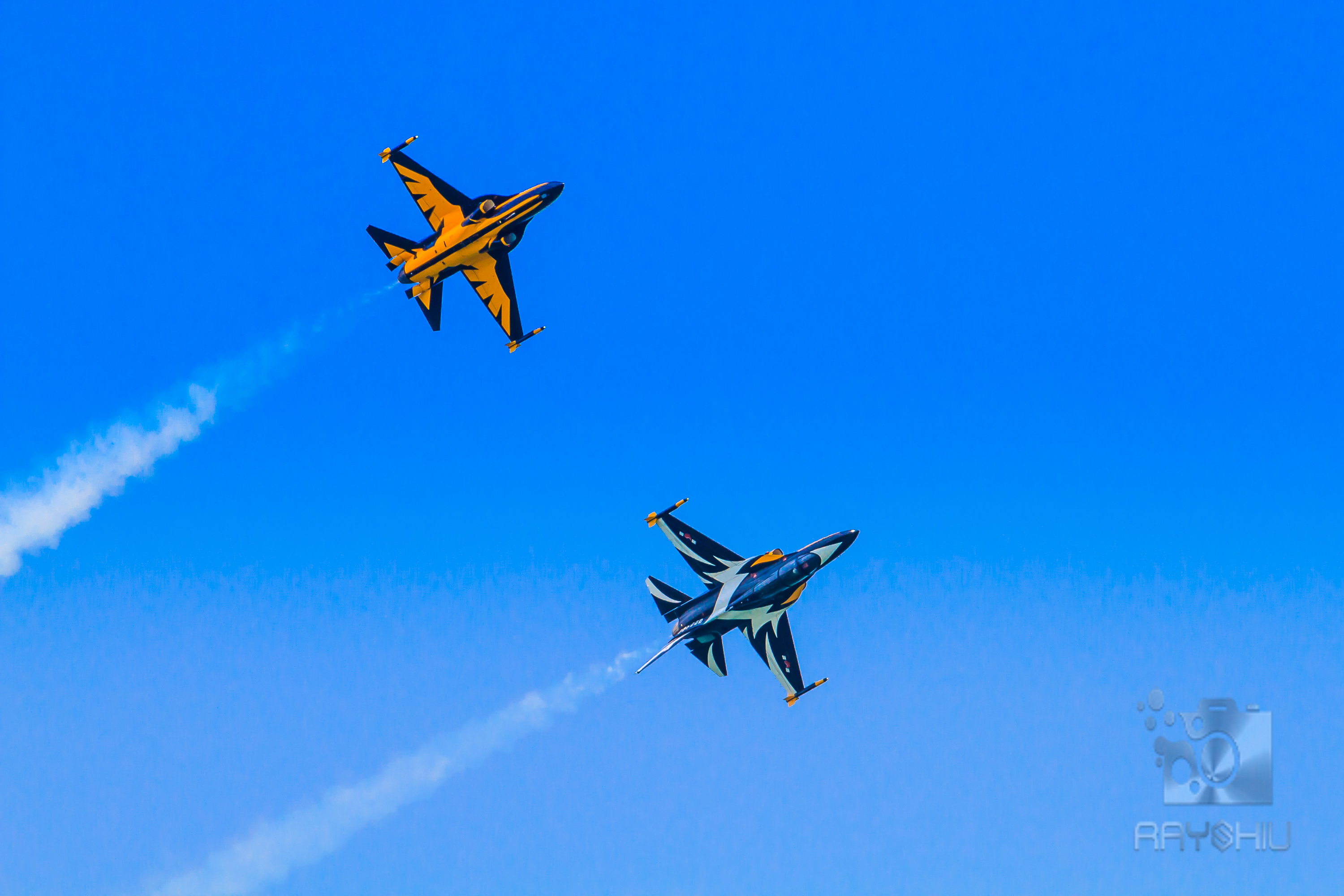 ROKAF Black Eagles showing off their livery, top and bottom