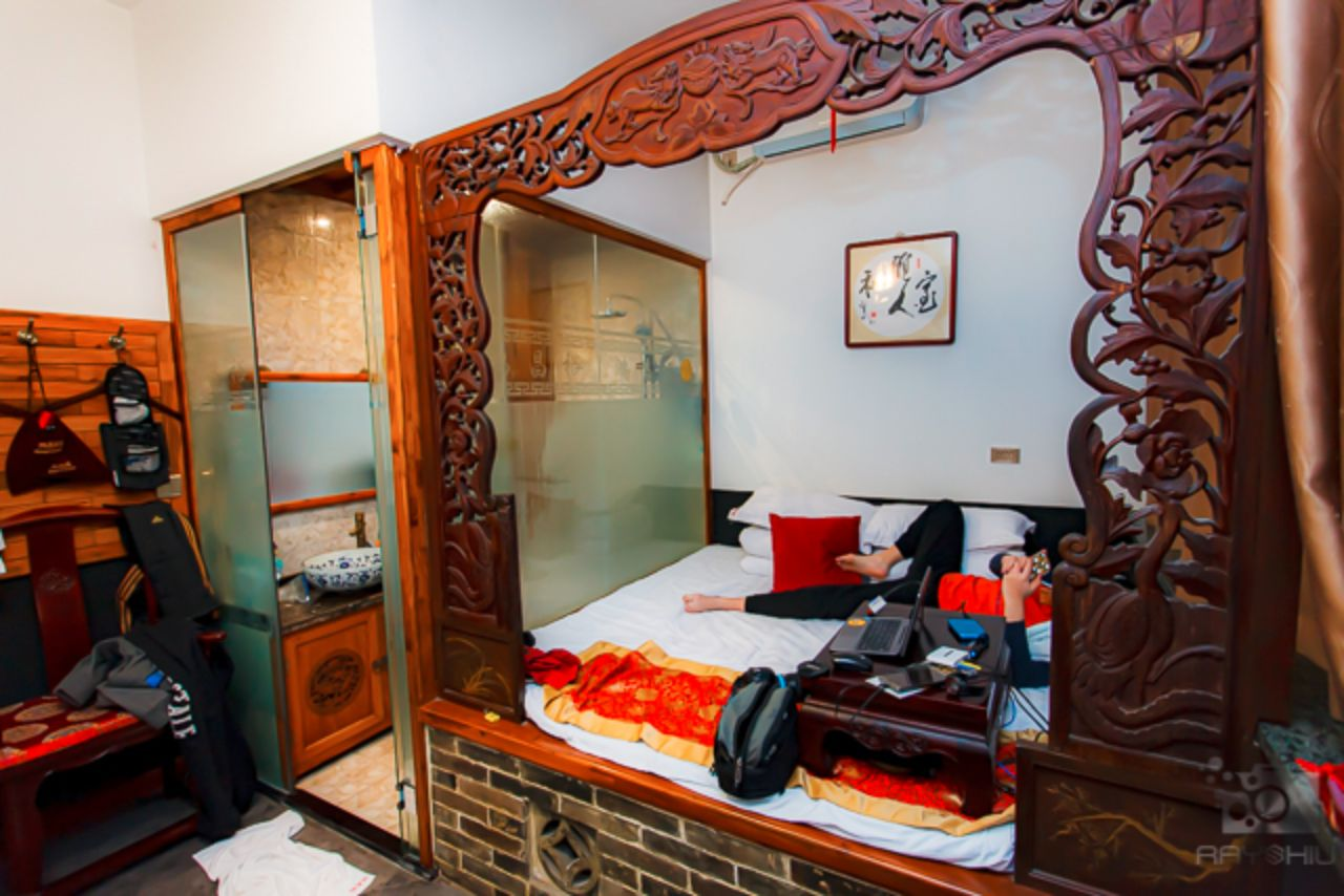 Inside one of the rooms at the Hong Changyu Inn.