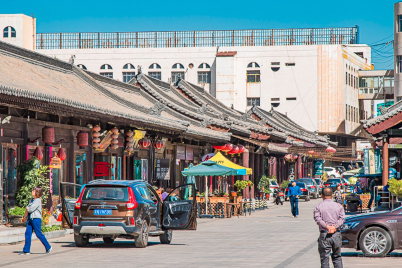 A side street in Datong's Old City, within the Great Wall.