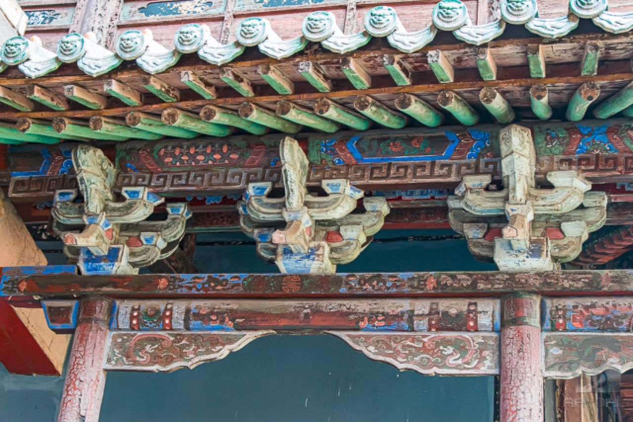Details of the 1500 year old Haning Monastery