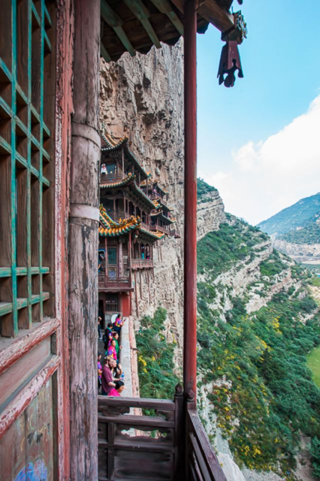 Narrow corridors of the Hanging Monastery