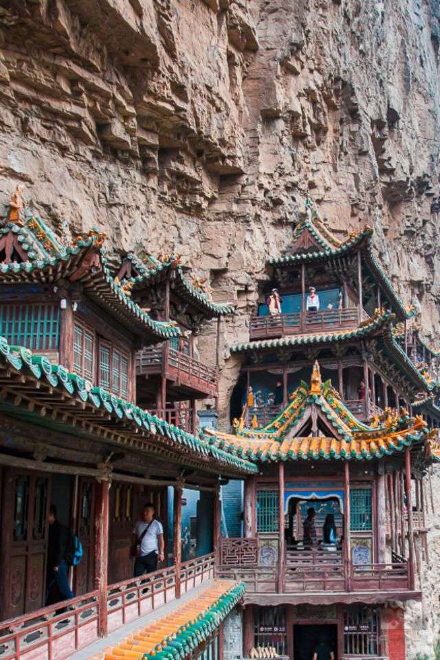 Narrow halls of the Hanging Monastery