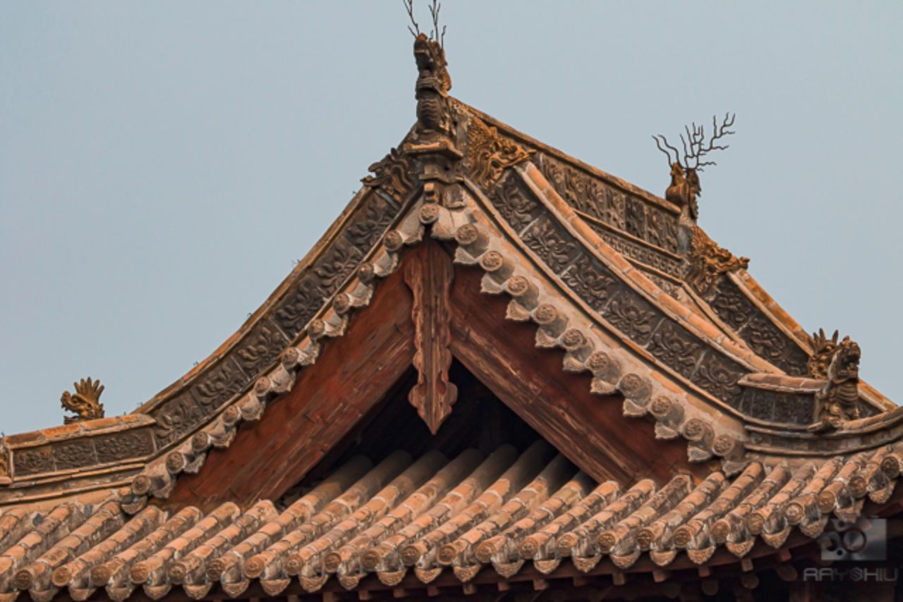 Close up views of the details adorning the roofs or ceilings of centuries old buildings
