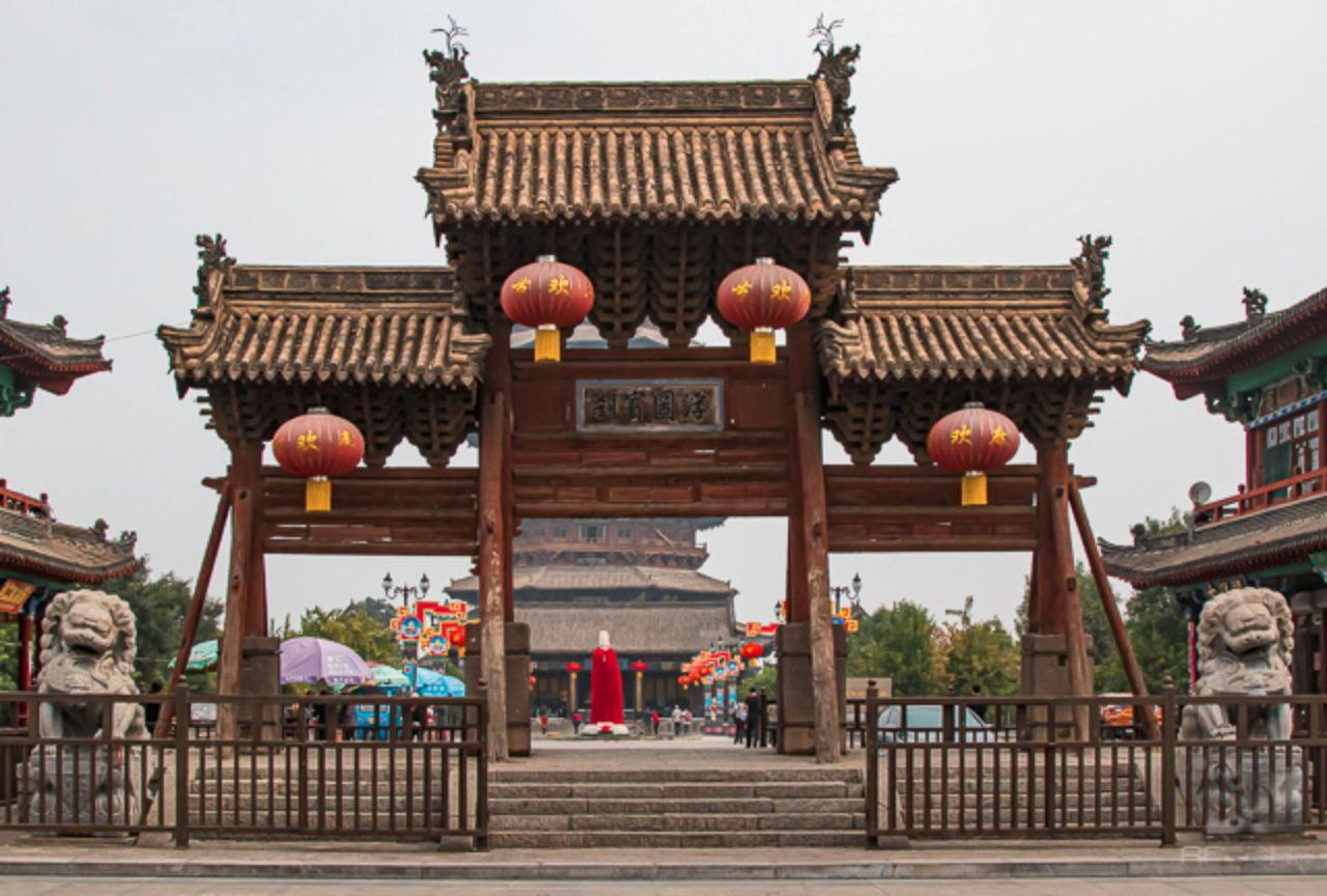 Gateway in front of the Yingxian Wooden Pagoda